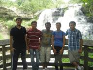 Simraan, me, Varun, Janani and Neeraj in front of Branywine falls