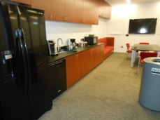Kitchen attached to office