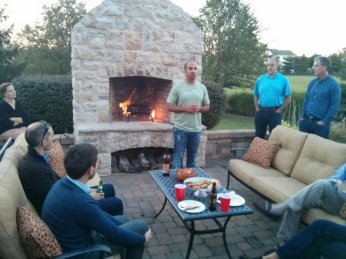 Mike Armstead from Founders Factory hosting a mentor dinner.