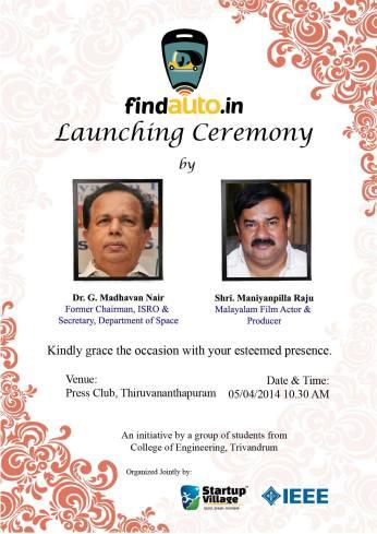 Launch Invitation - Front