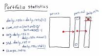 Portfolio Statistics